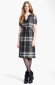 <3 Burberry Brit Check Print Dress available at #Nordstrom