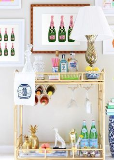 Bar Cart Art: Champagne Trio