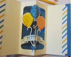 Crafty Maria's Stamping World: Balloon Adventure Pop- Up Birthday Card - Card 3