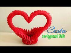 Paper Crafts Origami, Origami Art, Diy Paper, Paper Art, New Crafts, Diy Home Crafts, Diy Arts And Crafts, 3d Origami Heart, 3d Origami Tutorial