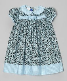 Take a look at this Brown Floral Corduroy Dress - Infant & Toddler by Cotton Blu & Cotton Pink on #zulily today!