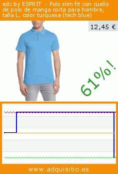 edc by ESPRIT  - Polo slim fit con cuello de polo de manga corta para hombre, talla L, color turquesa (tech blue) (Ropa). Baja 60.836741113558%! Precio actual 12,45 €, el precio anterior fue de 31,79 €. https://www.adquisitio.es/edc-by-esprit/edc-by-polo-slim-fit-8