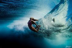 Sarah Lee's incredible underwater imagery is a part of a new film series showcasing various talented photographers. Due to her ability to capture stunning shots in the midst of chaos, Lee has made her mark amongst the majority of males that generally dominate the field. #thesurfchannel #waves #surf