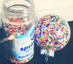 Red, green, and gold sprinkles... Or blue and silver sprinkles ❤️