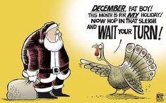 turkey yelling at santa