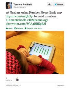 We were thrilled to find these examples of students using the Number Pieces App in the classroom! Bridges Math, Place Values, Applications, Learning Centers, Ipads, Coups, Mathematics, Computers, Numbers