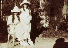 The Little pair: Grand Duchesses Maria and Anastasia Nikolaevna at Crimea.