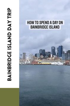Your guide to the ultimate day trip to Bainbridge Island near Seattle. This is a great day trip from Seattle destination because it's a 35 minute ferry ride from downtown Seattle and has a ton of wineries, restaurants, beaches, and viewpoints. There's also a cute downtown shopping area! Here are all the things to do on Bainbridge Island during your Bainbridge Island day trip! Don't miss this island off Seattle! Day Trips From Seattle, Seattle Travel, Seattle Ferry, Downtown Seattle, Travel Usa, Travel Tips, Travel Destinations, Bainbridge Island, Like A Local