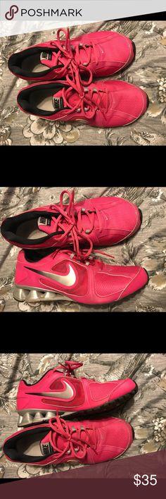 Hot Pink Women's Nike Tennis Shoes Hot Pink Women's Nike Tennis Shoes Nike Shoes Athletic Shoes