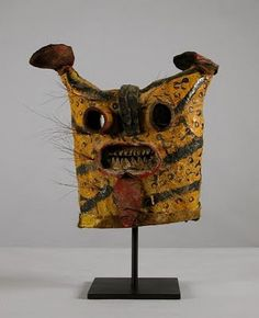 The Jaguar, known as tigre (tiger) mask was used in the Tecuanes (human-eaters) dance. This dance represented the killing of a jaguar that was harassing the village farmers. Mexico