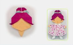 Origami put up one's hair / พับผมทรงเกล้าผม Origami Paper Folding, Kids Origami, Origami And Kirigami, Origami Butterfly, Origami Art, Oragami, Hair Origami, Origami Dress, Origami Clothing