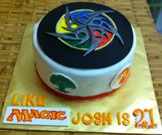 A Magic The Gathering themed cake for them card lovers!
