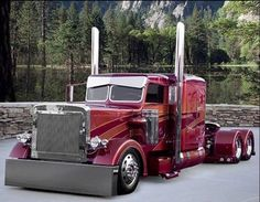 "truckerlite: "" Peterbuilt's (yeah, I have a thing for Pete's too) and Beautiful female MUSCLES……ummm SCORE! Oh lord, hear my prayer: Let me live my life with fast trucks and beautiful women, and. Big Rig Trucks, Show Trucks, Old Trucks, Vintage Trucks, Peterbilt 359, Peterbilt Trucks, Custom Peterbilt, Custom Big Rigs, Custom Trucks"