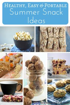 Easy and healthy portable snack ideas to fuel your daily life - or travels! Simple, real food recipes from dietitians and healthy food bloggers. Great ideas from @Fann