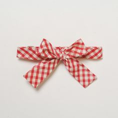 Red gingham bow tie - mary poppins style