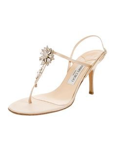 Jimmy Choo Embellished Slingback Sandals - Shoes - JIM40569 | The RealReal