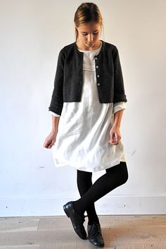 smock with a tiny cardigan from vdj
