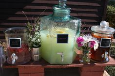 Watering Hole for Country Fair themed baby shower.