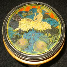 Art Deco 1930s Candy Tin Stylish Flapper Girl for Carmelita Chocolates Antique | eBay