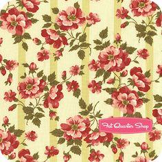 Avoncliff Olive Rose Stripe Yardage SKU# 0201-03