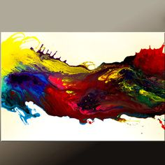 Abstract Canvas Art Painting 36x24 Original by wostudios on Etsy $150