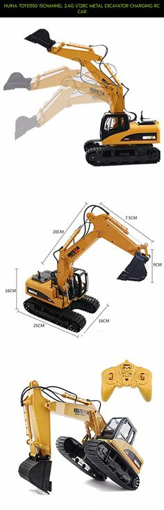 HuiNa Toys1550 15Channel 2.4G 1/12RC Metal Excavator Charging RC Car #products #1550 #plans #gadgets #shopping #technology #drone #kit #fpv #racing #parts #huina #camera #tech