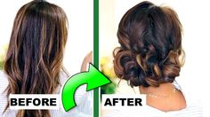 Hair tutorial for short, long or medium hair: how to do a quick & easy, elegant curly bun hairstyle with 3 normal braids. Beautiful updo hair style for every. Simple Updo, Easy Curly Updo, Simple Wedding Updo, Curly Bun, Simple Prom Hair, Wedding Blog, Long Curly, Easy Party Hairstyles, Easy Updo Hairstyles