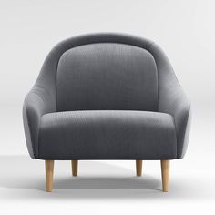 Amalie Small Space Chair + Reviews | Crate and Barrel Unique Furniture, Custom Furniture, Moroccan Style Rug, Chairs For Small Spaces, Baby Chair, Apartment Sofa, Sofa Frame, Comfortable Sofa, Couches