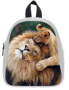 StandardStore Custom Special Design Abstract Lion Backpack Kids School Bag Children Shoulder Bag -- More info could be found at the image url.