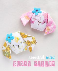 Mini bunny face pillows filled with lavender