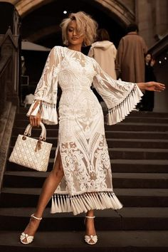 Mar 2020 - White Sequins Fringe Bandage Midi Dress, M / White Mode Outfits, Dress Outfits, Fashion Dresses, Maxi Dresses, Wedding Dresses, Summer Dresses, Party Dresses, Occasion Dresses, Lace Wedding