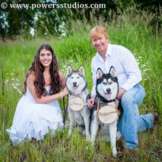 Engagement session with dogs. <3! Powers Photography Studios  www.powersstudios.com