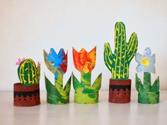 make plants from toilet paper rolls #plants #paper #recycle #kidscraft