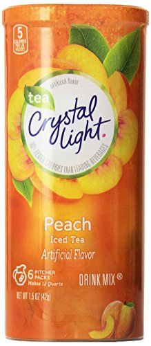 Crystal Light Peach Iced Tea Canisters VALUE PACK OF 12 * Continue to the product at the image link.