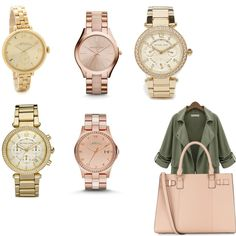 Watches by rebeckasepost on Polyvore featuring Michael Kors and MARC BY MARC JACOBS
