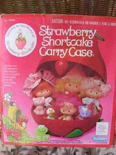 Strawberry Shortcake Carrying Case For Dolls Kenner 1980 Box (by Betty Bubble At TumbleweedCottage)