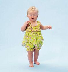 Baby Girls' Romper Pattern, Toddler Girls' Sunsuit Pattern, Infant Girls' Romper Pattern, Simplicity Sewing Pattern 6942