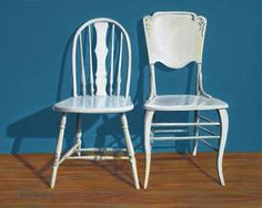 "Daily+Paintworks+-+""Two+Chairs""+-+Original+Fine+Art+for+Sale+-+©+Nance+Danforth"