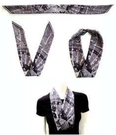 V-fold: perfect for lining v-neck sweaters. it provides warmth and a luxurious neckline. Pear Shaped Girls, Scarf Knots, Fashion Outfits, Womens Fashion, Fashion Tips, Style Challenge, White Outfits, Scarf Styles, Scarf Ideas