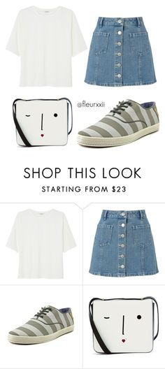 """Kang Mo Yeon #1"" by fleurxxii ❤ liked on Polyvore featuring Monki, Miss Selfridge, Ted Baker, Lulu Guinness, dots, songhyekyo and thedescendantsofthesun"