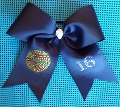 Personalized Navy Softball Bow by HairySituation on Etsy, $10.00