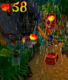 morebuildingsandfood:  Wumpa fruit from Crash Bandicoot 2, by Naughty Dog.