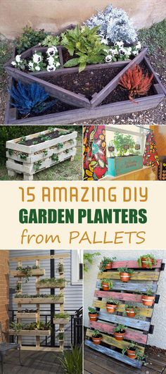 15 Amazing DIY Garden Planters from Pallets - DIY pallet projects & ideas
