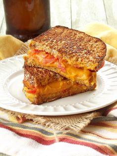 Vegan Grilled Cheese with Sweet Potato Nacho Cheese