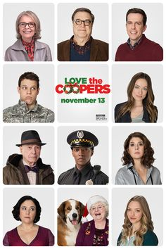Meet the cast of the new holiday movie Love the Coopers - In theaters Friday - Alan Arkin, Alex Borstein, John Goodman, Ed Helms, Diane Keaton, Jake Lacy, Anthony Mackie, Amanda Seyfried, June Squibb, Marisa Tomei, Olivia Wilde.