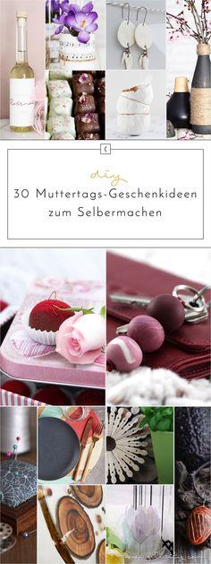 Der Muttertag steht schon fast vor der Tür und du hast noch keine Geschenkidee? Hier sind 30 kreative Muttertags-Geschenke zum Selbermachen.