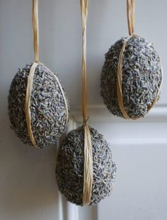 Lavender Easter egg ornament by NaturDesign on Etsy, $20.00  They make the BEST wreaths you have ever seen at better prices than you can possibly imagine.  Just now on Etsy!  I frequent their area at my local farmers' market.