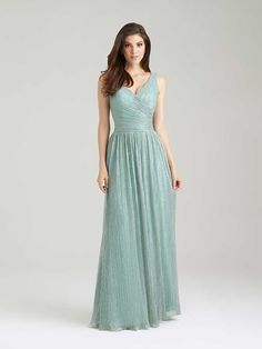 1476 Allure Bridesmaid Dress, Vintage-Inspired Crinkle Fabric Weaves Sparkle Into Your Bridal Party. Book A Fitting @ Your Ferrari Formalwear & Bridal Store Allure Bridesmaid Dresses, Bridal Wedding Dresses, Allure Dresses, Junior Bridesmaids, Wedding Bells, Tulle, Mob Dresses, Dresses 2016, Vintage Dresses