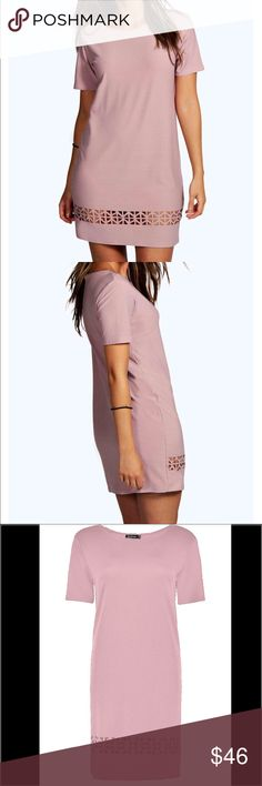 Gorgeous Mauve Laser Cut Shift Dress Brand new with tags attached Mauve Laser Cut Shift Dress. Nice loose fitting and made of 95% Polyester and 5% Elastane. Dresses