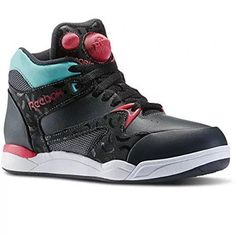 c70a04f6d559 (Reebok) Women s Athletic Outdoor DIRECT FROM USA Reebok Womens Pump  Aerobic Lite Co-op Mid Dance Shoe in Gravel   Blazing Pink   Crys tal Blue